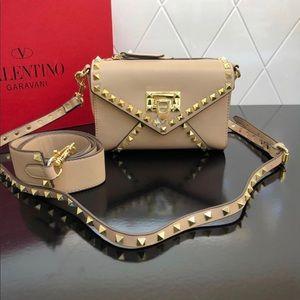 VALENTINO Rockstud Medium Leather Crossbody Bag